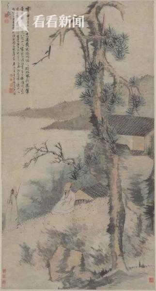 松下高士图 1701年.jpg  松下高士图1701年刘海粟美术馆藏