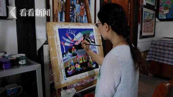 陈惠芳作画