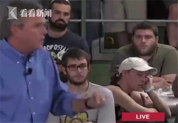 美国前总统布什的弟弟——杰布·布什的造势活动上有人听到睡着