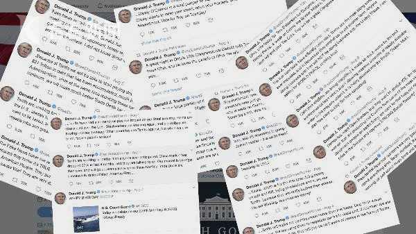 特朗普一个周末竟然连推了48条推特