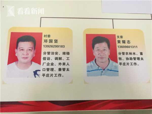 大涡村村委会班子成员黄某志介绍