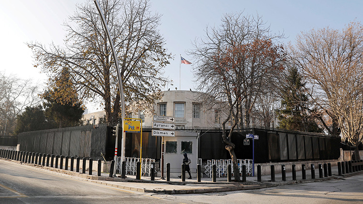 美国驻土耳其大使馆遭枪击 未造成人员伤亡