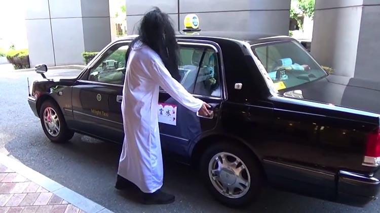 """""""贞子""""来做你司机!日本大阪推出怨灵出租车"""