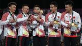 中国队获得了2018亚运会体操男子团体的金牌