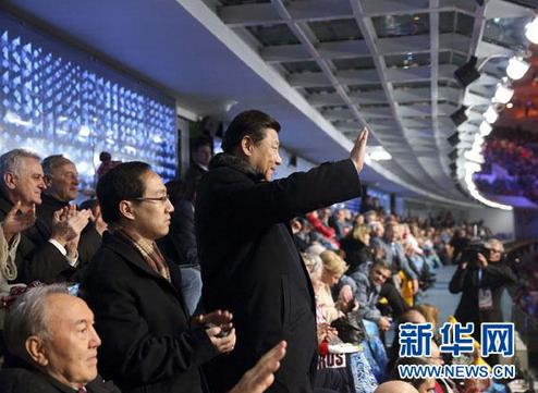 2014年2月,习近平出席索契冬奥会开幕式。来源:新华网
