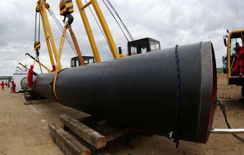 2015年6月,中俄东线天然气管道工程中国境内段开工。来源:新华网