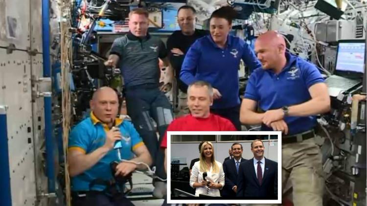 俄宇航员与伊万卡视频实力撩妹:看到你心情就好