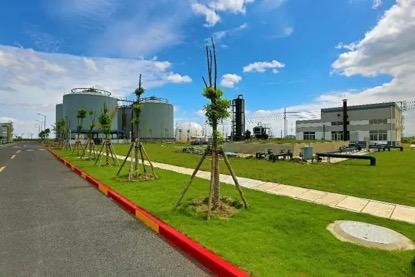 位于老港综合填埋场一期的渗滤液处理厂