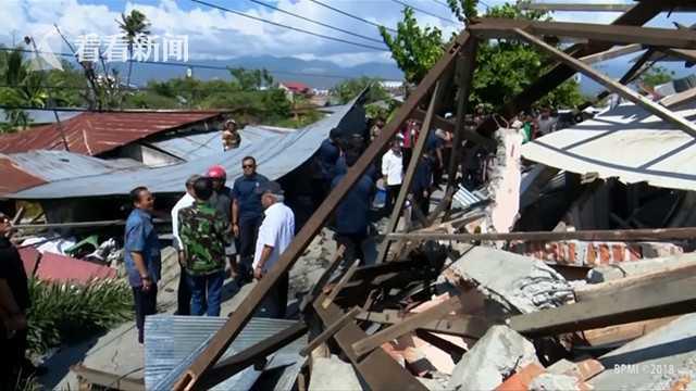 视频|印尼强震海啸或已致1200人死 救助者徒手刨废墟