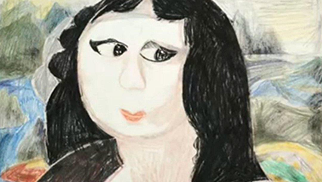 自闭症女孩画《蒙娜丽莎》 征服意大利收藏世家