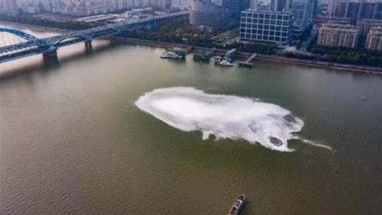 钱塘江异常泡沫原因查明:沼气夹带发泡剂引起