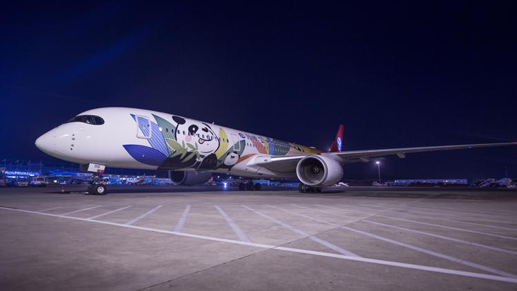三亚机场迎来首架空客A350-900型航班