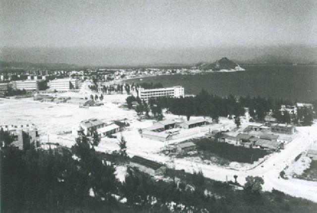 20世纪80年代的深圳蛇口工业区。深圳博物馆图