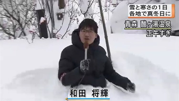 日本记者在
