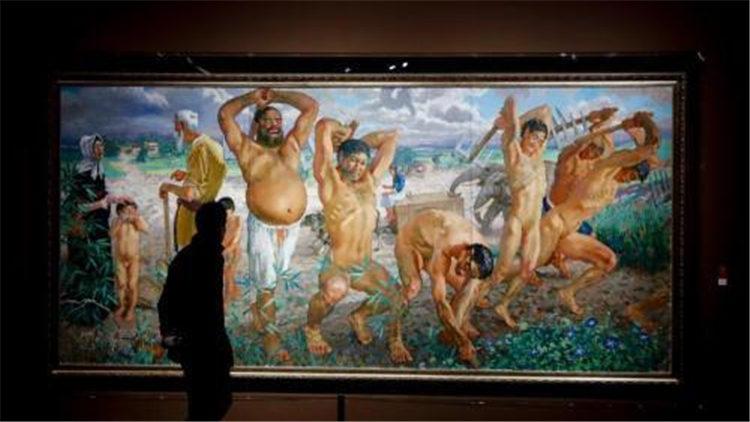 徐悲鸿油画《愚公移山》卖出2亿元 此前曾流拍