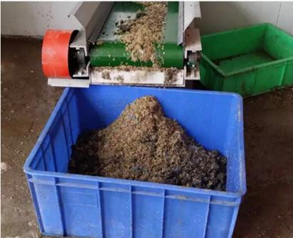 湿垃圾处理后的有机质残渣