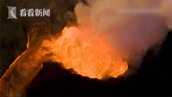 美国夏威夷火山喷发