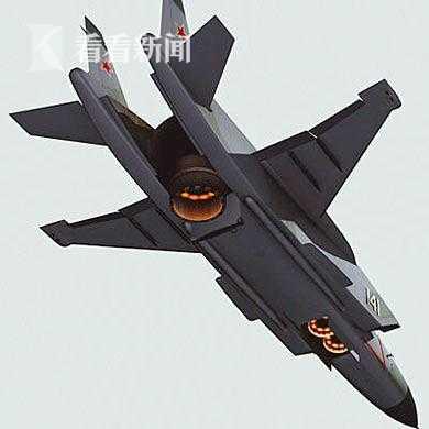 垂直起降状态的雅克-141