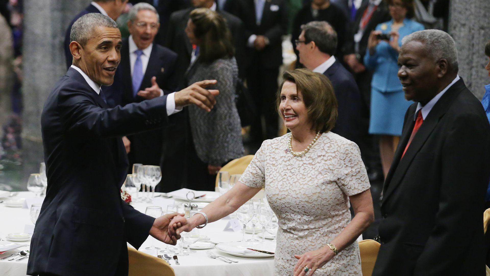 佩洛西与奥巴马