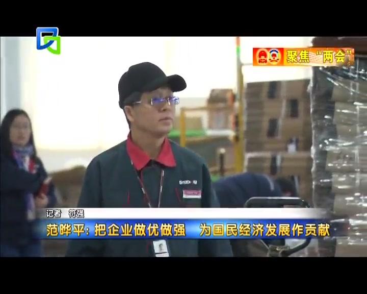 范晔平:把企业做优做强 为国民经济发展作贡献