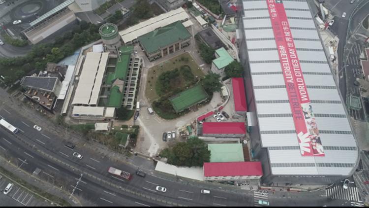 上海最大室外封闭式工地悄无声息