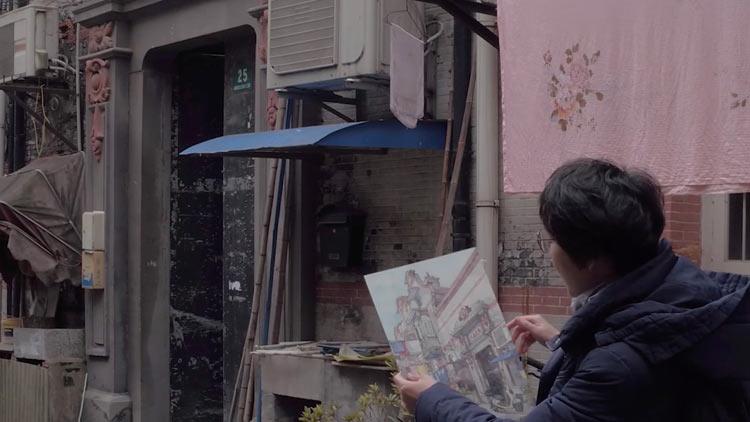 80后上海姑娘 用画笔为张园写传记