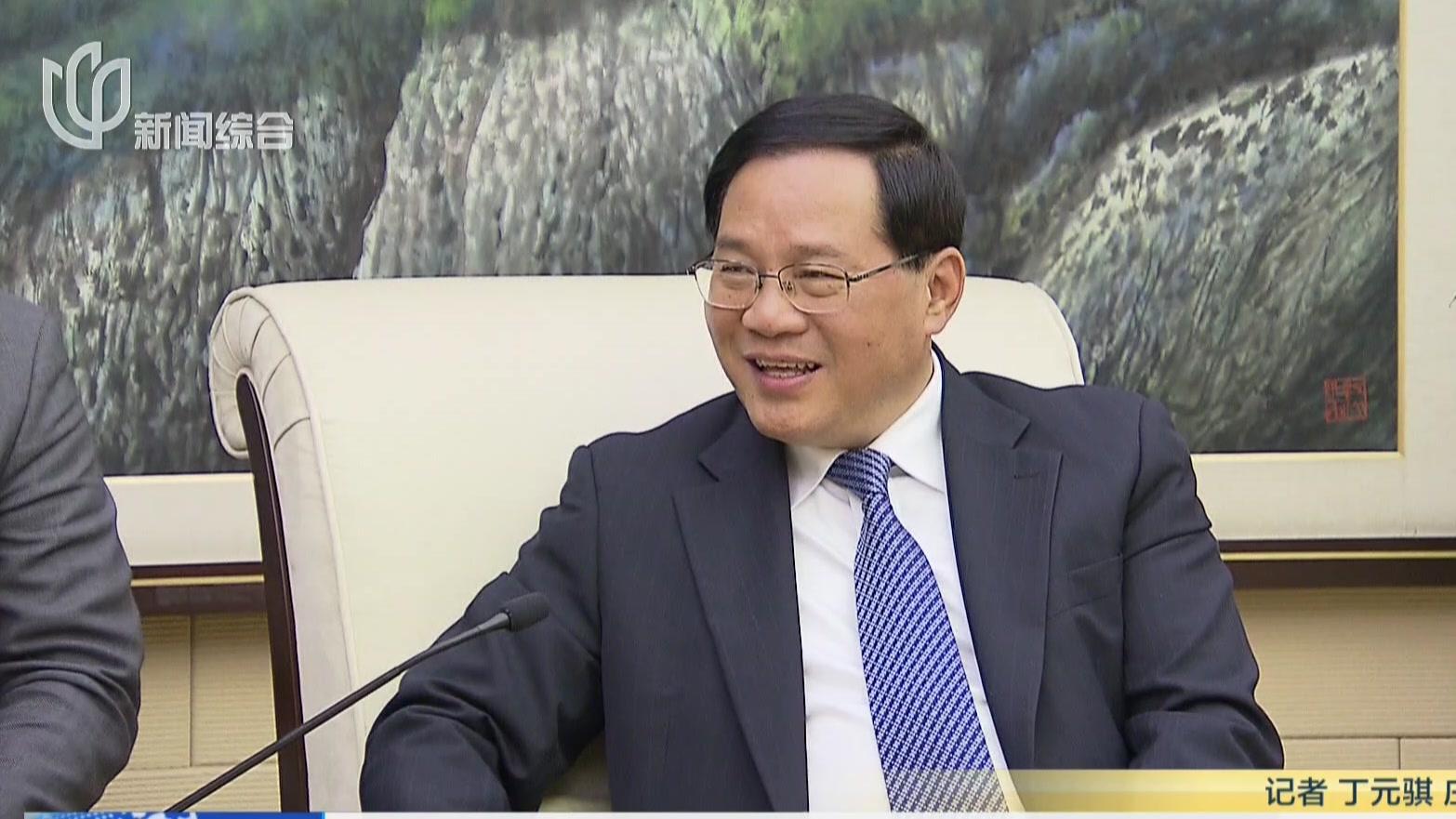 李强会见美国新思科技总裁兼联席CEO陈志宽