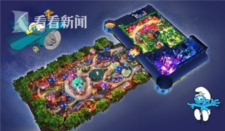 上海世茂精灵之城主题乐园蓝精灵区设计鸟瞰图 _副本.png