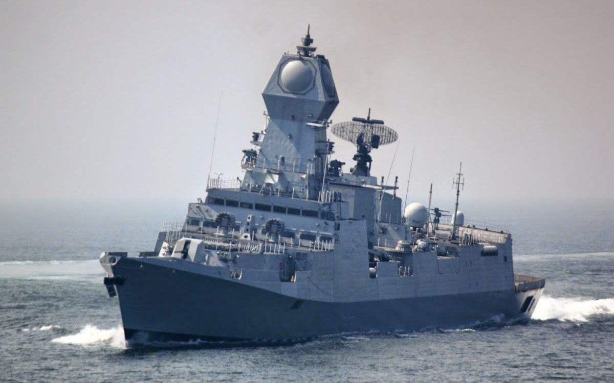 """印度""""加尔各答""""号驱逐舰"""