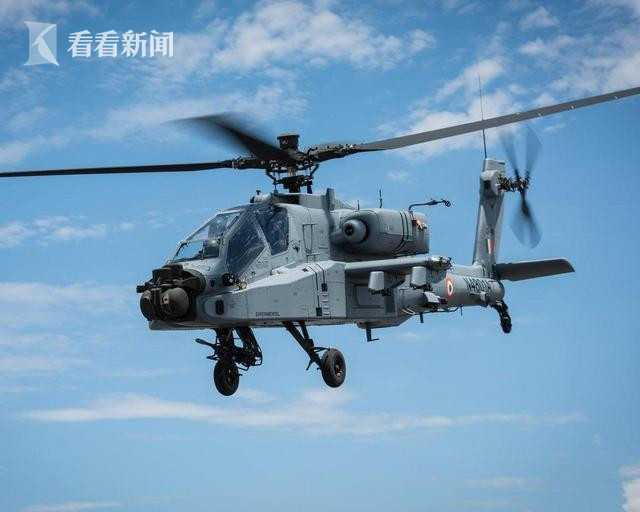 """印度空军首架AH-64E""""守护者""""武装直升机"""