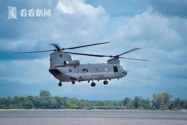"""印度空军CH-47""""支奴干""""运输直升机"""