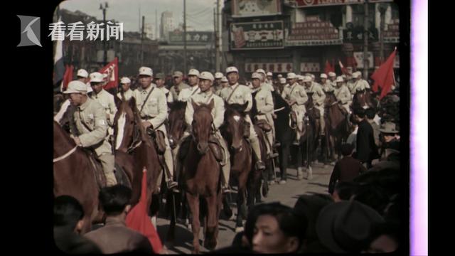 上海市民欢庆解放军入城
