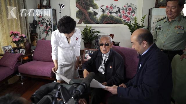 中央军委原副主席、上海解放战役亲历者迟浩田将军接受采访
