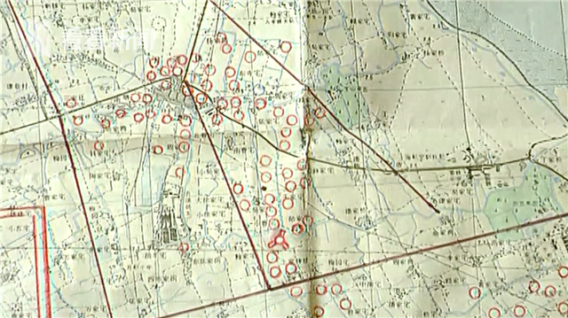 1949年宝山地区密集碉堡布局图