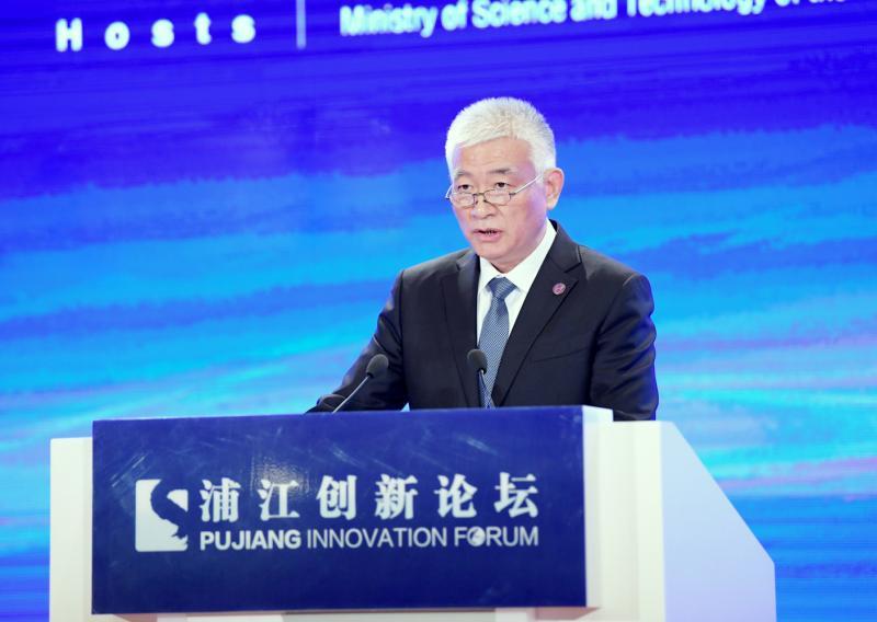 图为科技部部长王志刚作主旨演讲