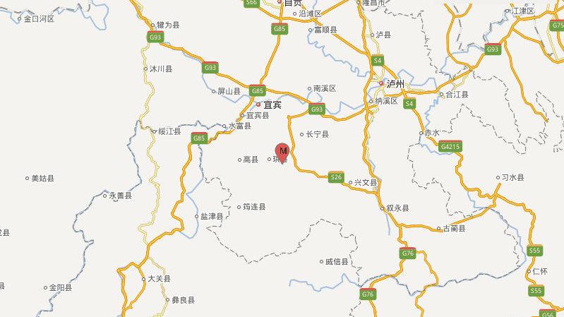四川长宁再发生4.1级地震 余震已超170次