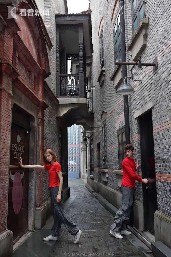 POB舞者在上海新天地