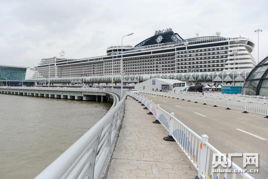 吴淞口国际邮轮港区(央广网记者王晶 摄)