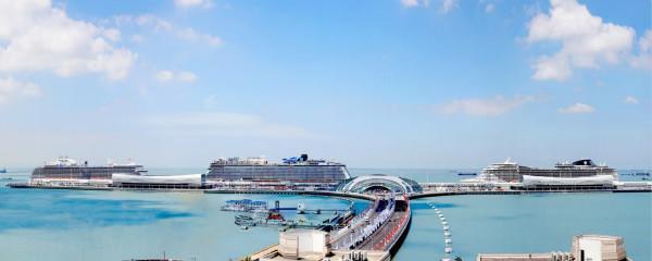图说:上海吴淞口国际邮轮港。宝山区供图