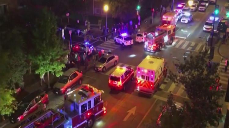 白宫附近发生枪击1死5伤 Knews记者现场介绍详情