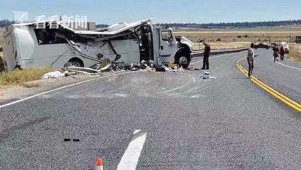 视频|中国旅游团在美国遇翻车事故 至少4人死亡
