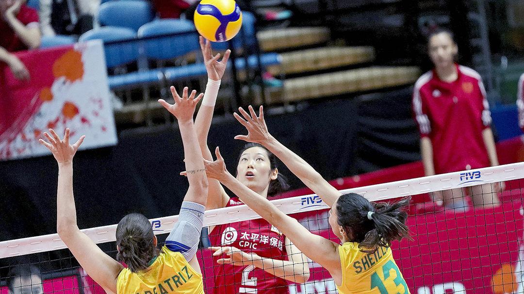 女排世界杯 中国队3:2逆转宿敌巴西 豪取六连胜