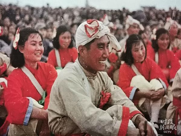 参加开国大典演出的人民艺术团队。