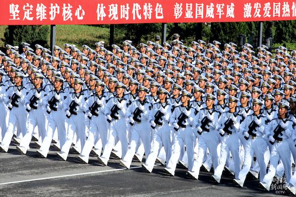 海军方队。