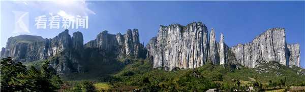 (湖北恩施腾龙洞大峡谷国家地质公园石柱峰林  摄影:梅涛)