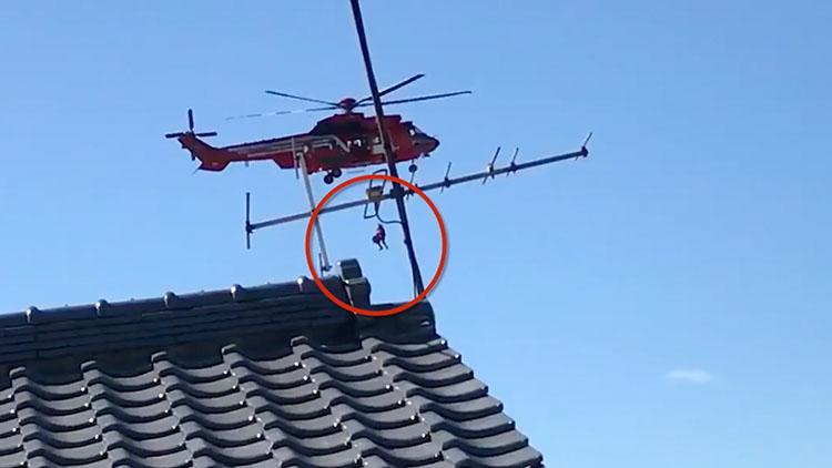 日本救援直升机发生失误 7旬老妇从40米高空坠亡