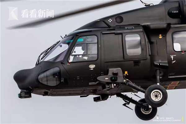 天津直博会展出的陆航版直-20 图片鸣谢前站起飞