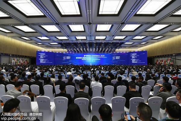 10月20日上午10時,第六屆世界互聯網大會在烏鎮互聯網國際會展中心烏鎮廳開幕。來源:人民網