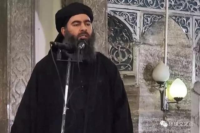 巴格达迪在2014年7月5日发布的讲话视频截图