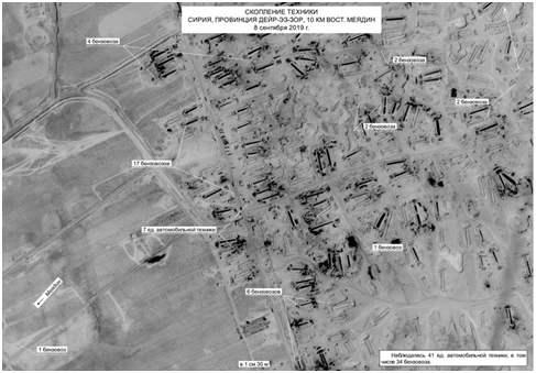 石油運輸車聚集在敘利亞代爾祖爾省 圖源:俄羅斯衛星通訊社